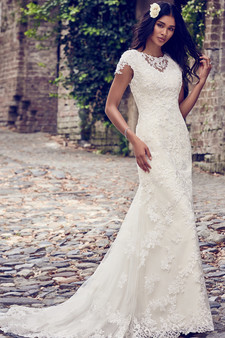 maggie sottero fit and flair illusion