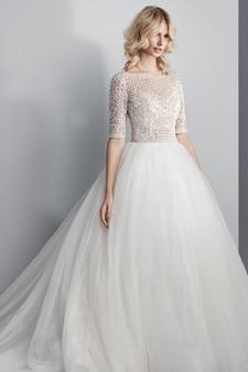 sottero and midgley tulle dress