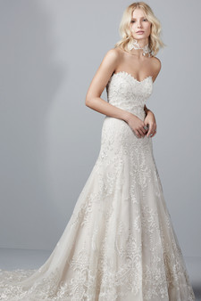 sottero and midgley wedding dress aline lace