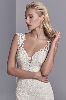 sottero and midgley rose lace gown