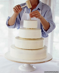 Wedding Cake 101 How To Make A Buttercream Cake Martha