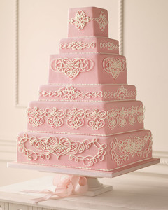 wedding cake with hearts filigree wedding cake how to martha stewart weddings 26905