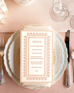 Menu Template Martha Stewart Weddings