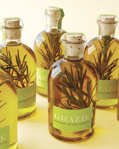 Rosemary Olive Oil How-To | Martha Stewart Weddings