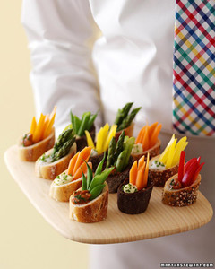 individual crudites martha stewart weddings. Black Bedroom Furniture Sets. Home Design Ideas