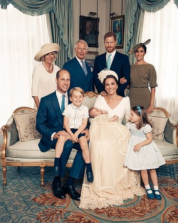 Royal Family Christening Family Portrait