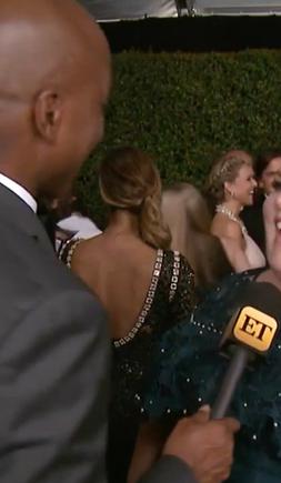 Chrissy Metz being interviewed at 2017 Emmys
