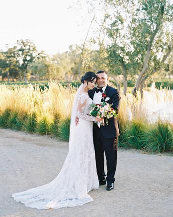 dianna amar wedding couple on path