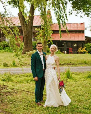 rose chris wedding couple