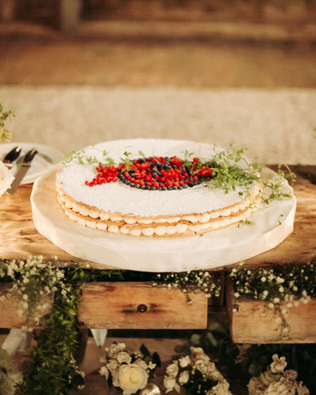kseniya sadhir wedding italy cake