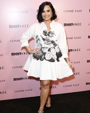 demi lovato on the Teen Vogue Summit 2019 red carpet