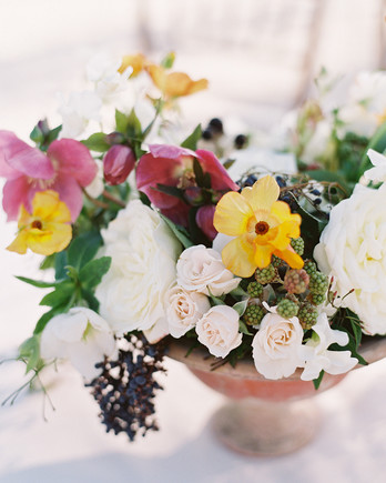 beth john wedding floral centerpiece