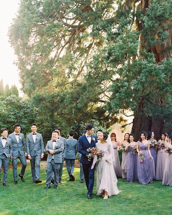 jackie ben wedding party in garden