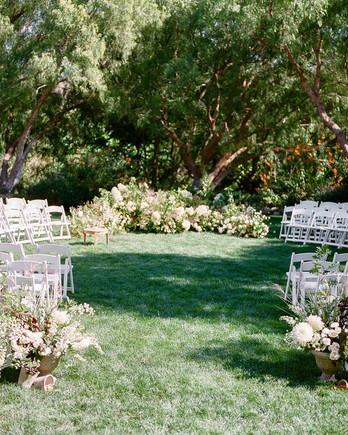 circular pattern chair outdoor wedding ceremony
