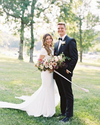 julia doug wedding couple