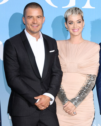 katy perry and orlando bloom on red carpet