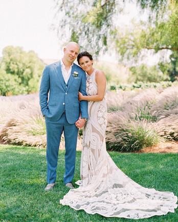 cait fletch wedding couple