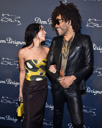zoe kravitz lenny kravitz red carpet