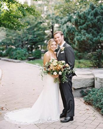brianna and drew outdoor wedding portrait