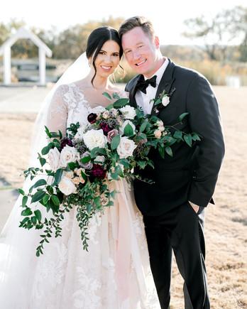 wedding couple portrait outdoors