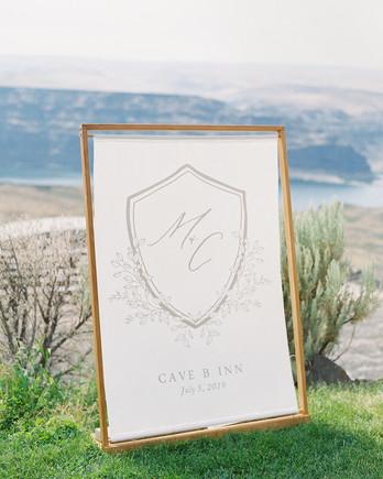 micaela curtis wedding sign cave b inn location