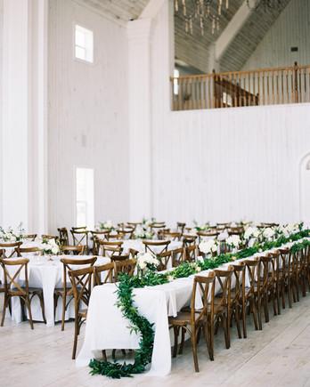 shakira travis wedding reception space tables