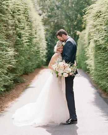 adrienne will wedding couple