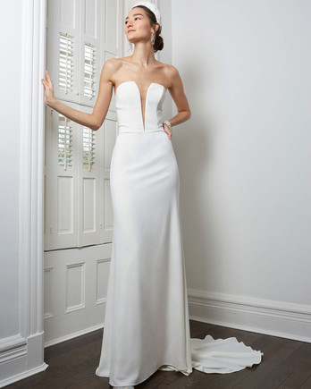 BHLDN strapless plunging v-neck wedding dress fall 2020