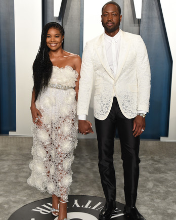 gabrielle union dwyane wade vanity fair oscar party