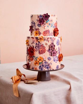 floral designed cake