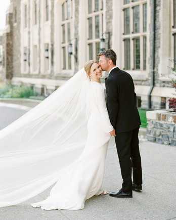 katie nicholas wedding couple flowing veil