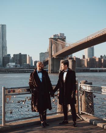 grooms standing pier locks