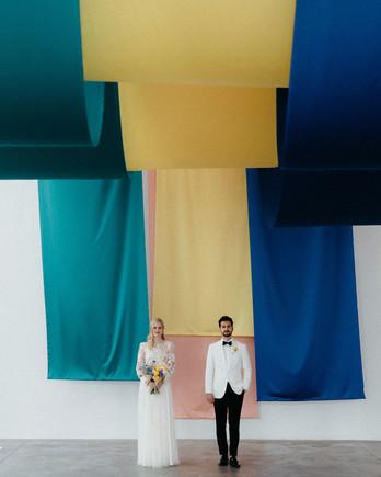 kristen jonathan wedding couple fine art installation