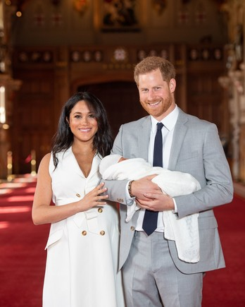 Prince Harry and Meghan Markle Holding New Baby Boy