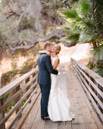 ashlie adam alpert wedding couple on bridge