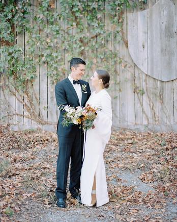 bride groom portrait