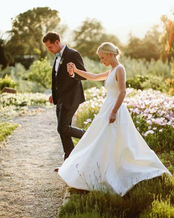 eliza peter wedding couple walk