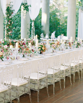 jackie ben wedding reception long table