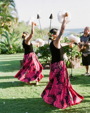 hawaiian wedding cocktail party luau dancers