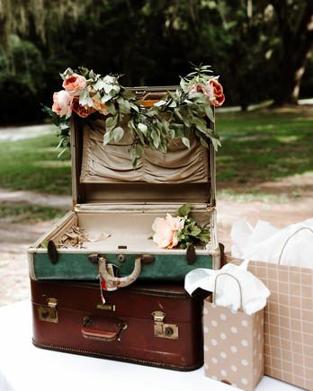 wedding gift tables yellow bird visuals