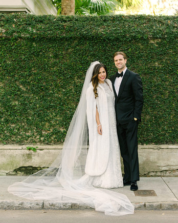 lindsay evan wedding portrait with vines