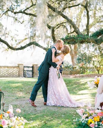 catherine john micro wedding ceremony couple kiss perry vaile