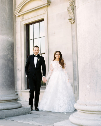 ramsey charles ireland wedding couple holding hands