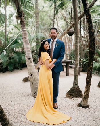 yellow backless wedding dress