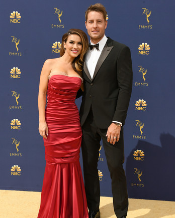 justin hartley chrishell hartley emmys 2018