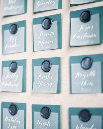 charla jesse wedding escort cards detail