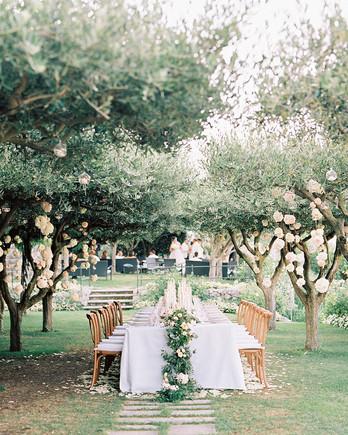 jacqueline david wedding reception long table