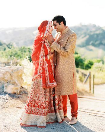 caitlin amit indian wedding couple portrait