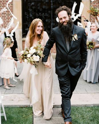 katie matthew ohio wedding recessional