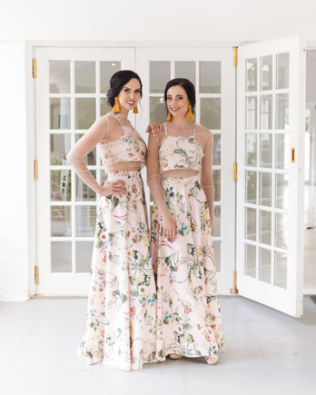 two piece bridesmaids cara faye weddings floral